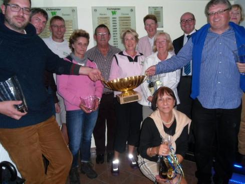 Sieger und Platzierte der Vierer-Clubmeisterschaften 2013