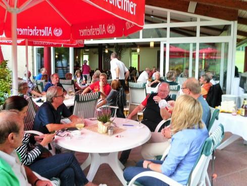 Allersheimer Cup-2014 Auf der Terrasse